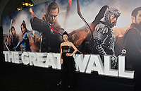 Jing Tian at the premiere for &quot;The Great Wall&quot; at the TCL Chinese Theatre, Hollywood, Los Angeles, USA 15 February  2017<br /> Picture: Paul Smith/Featureflash/SilverHub 0208 004 5359 sales@silverhubmedia.com