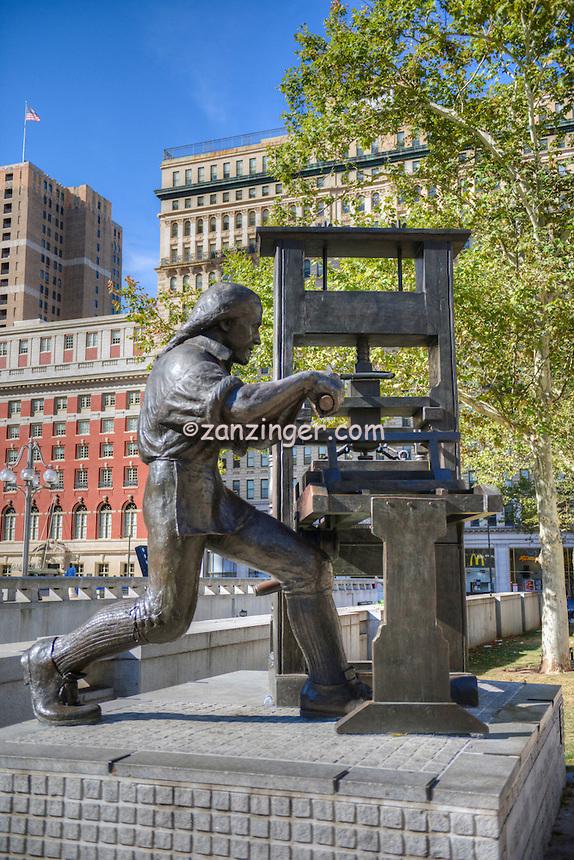 JFK Plaza, Love Sculpture; Philadelphia PA; Urban city; Downtown