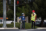 New crossing guard at Magdalena Ave. & Foothill Exp.
