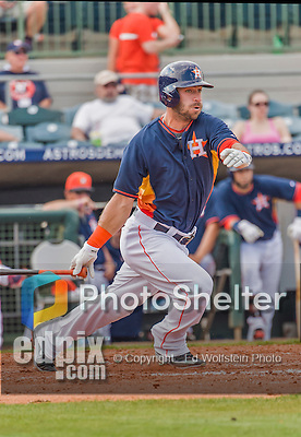20 March 2015: Houston Astros outfielder Andrew Aplin in Spring Training action against the Washington Nationals at Osceola County Stadium in Kissimmee, Florida. The Astros fell to the Nationals 7-5 in Grapefruit League play. Mandatory Credit: Ed Wolfstein Photo *** RAW (NEF) Image File Available ***