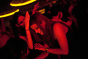 Young Indians are seen having a good time at The club LAP located in Hotel Samrat in New Delhi, India. Photograph: Sanjit Das/Panos