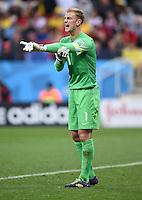 FUSSBALL WM 2014  VORRUNDE    GRUPPE D     Uruguay - England                     19.06.2014 Torwart Joe Hart (England)