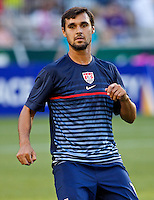 PORTLAND, Ore. - July 9, 2013: Chris Wondolowski warms ups before the match. The US Men's National team plays the National team of Belize during the 2013 Gold Cup at at JELD-WEN Field.