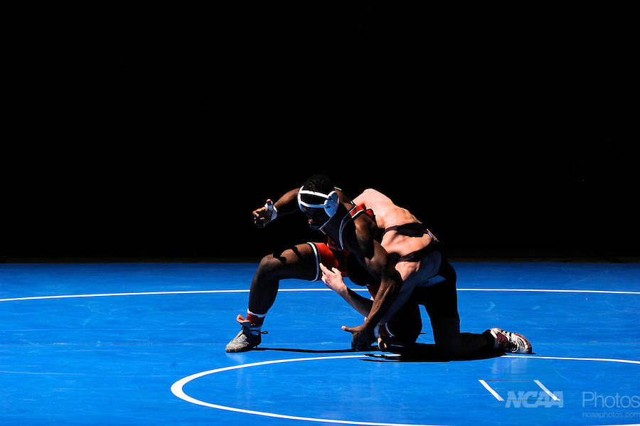 12 MAR 2011: Bradley Banks of Wartburg takes on Zach Molitor of Augsburg in the 174 lbs championship match during the Division III Men's Wrestling Championship held at the La Crosse Center in La Crosse Wisconsin. Molitor defeated Banks 3:20 to claim the national title. Stephen Nowland/NCAA Photos