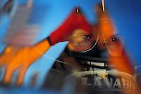 May 4, 2012; Commerce, GA, USA: NHRA top fuel dragster driver Shawn Langdon during qualifying for the Southern Nationals at Atlanta Dragway. Mandatory Credit: Mark J. Rebilas-