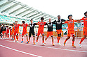 Shimizu S-Pulse team group, SEPTEMBER 17, 2011 - Football / Soccer : Shimizu S-Pulse players celebrate after the 2011 J.League Division 1 match between Shimizu S-Pulse 1-0 Urawa Red Diamonds at Ecopa Stadium in Shizuoka, Japan. (Photo by AFLO)