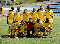 Barbados lines up during the group stage of the CONCACAF Men's Under 17 Championship at Jarrett Park in Montego Bay, Jamaica. Canada defeated Barbados, 8-0.