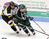 Beau Burgau (WIT - 12), Travis Stevens (PSU - 18) - The visiting Plymouth State University Panthers defeated the Wentworth Institute of Technology Leopards 2-1 on Monday, November 19, 2012, at Matthews Arena in Boston, Massachusetts.