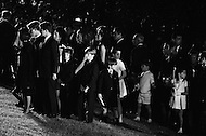 June 8th 1968, Arlington National Cemetery, Virginia.<br /> The Kennedy family paying respect at the funeral for Senator Robert F. Kennedy at Arlington National Cemetery.