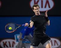 Andy Murray (GBR)<br /> <br /> Tennis - Australian Open 2015 - Grand Slam -  Melbourne Park - Melbourne - Victoria - Australia  - 25 January 2015. <br /> &copy; AMN IMAGES