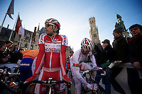 De Ronde van Vlaanderen 2012..Oscar Freire relaxed as ever