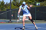 24 April 2016: UNC's Hayley Carter. The University of North Carolina Tar Heels played the University of Miami Hurricanes at the Cary Tennis Center in Cary, North Carolina in the Atlantic Coast Conference Women's Tennis Tournament Championship. North Carolina won the match 4-2.