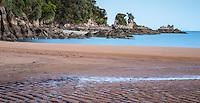 Sunset on Totaranui beach on Abel Tasman Coast Track, Abel Tasman National Park, Nelson Region, South Island, New Zealand