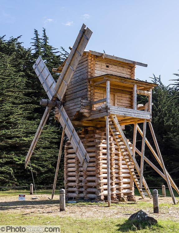 Fort Ross windmill, full-size 1800s Russian replica, in ...