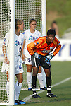 4 July 2003: Briana Scurry (1) with the Augustyniak twins Nancy (25) and Julie (15). The Carolina Courage defeated the Atlanta Beat 3-2 at SAS Stadium in Cary, NC in a regular season WUSA game.