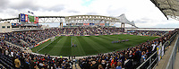 A panorama of PPL Park prior to the start of the match. Sporting Kansas City defeated the Philadelphia Union 3-1 during a Major League Soccer (MLS) match at PPL Park in Chester, PA, on March 2, 2013.