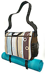 striped yoga bag with mat
