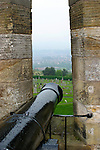 Europe, Great Britain, United Kingdom, Scotland. A canon of Stirling Castle.