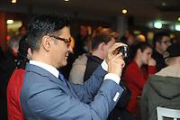 SHORTTRACK: HEERENVEEN: IJsstadion Thialf, 30-01-2015, Huldiging Jeroen Otter (bondscoach Shorttrack) en Sjinkie Knegt (Europees kampioen Shorttrack), Tjeerd van der Zwan (burgemeester Heerenveen), ©foto Martin de Jong