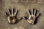 Handprints in cement in the courtyard of the Chinese Theater, Hollywood, CA