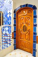 Spain, Barcelona. Casa Batlló is one of Antoni Gaudí's masterpieces. The atrium