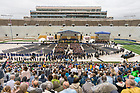 May 21, 2017; Graduates enter Notre Dame Stadium for the 2017 Commencement ceremony.  (Photo by Barbara Johnston/University of Notre Dame)
