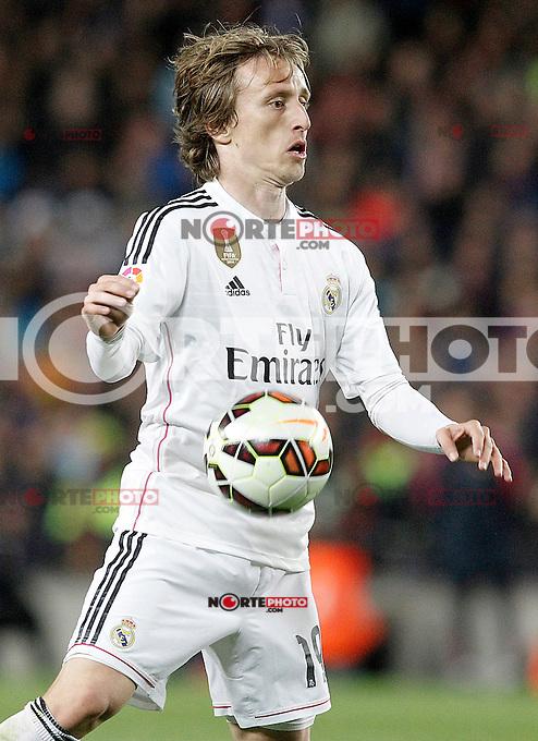 Real Madrid's Luka Modric during La Liga match.March 22,2015. (ALTERPHOTOS/Acero) /NORTEphoto.com
