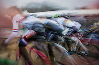 elite women's race motion blurred start action<br /> <br /> GP Sven Nys 2017
