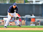 5 March 2011: New York Yankees' infielder Doug Bernier in action during a Spring Training game against the Washington Nationals at George M. Steinbrenner Field in Tampa, Florida. The Nationals defeated the Yankees 10-8 in Grapefruit League action. Mandatory Credit: Ed Wolfstein Photo