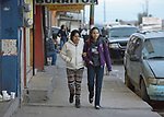 Patricia Esquivel and her daughter, Yarely Arellano, walk through the Mexican city of Juarez on their way to the U.S. border, where Arellano will cross into El Paso, Texas, to study at the Lydia Paterson Institute, a United Methodist sponsored high school. Arellano makes the journey every school day, and most days her mother accompanies her to the border for safety. Arellano was born in the United States, and is thus a U.S. citizen, but her mother, a Mexican national, was later deported and is not allowed to reenter the U.S.