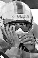 HAMPTON, GA - APRIL 22: Rick Mears perpares to drive his Penske/Cosworth TC during practice for the Gould Twin Dixie 125 event on April 22, 1979, at Atlanta International Raceway near Hampton, Georgia.