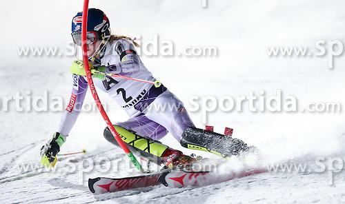 13.01.2015, Hermann Maier Weltcupstrecke, Flachau, AUT, FIS Weltcup Ski Alpin, Flachau, Slalom, Damen, 1. Lauf, im Bild Mikaela Shiffrin (USA) // Mikaela Shiffrin of the USA in action during 1st run of the ladie's Slalom of the FIS Ski Alpine World Cup at the Hermann Maier Weltcupstrecke in Flachau, Austria on 2015/01/13. EXPA Pictures © 2015, PhotoCredit: EXPA/ Johann Groder