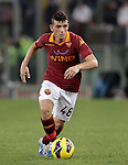 Calcio, Serie A: Roma vs Palermo. Roma, stadio Olimpico, 4 novembre 2012..AS Roma midfielder Alessandro Florenzi in action during the Italian Serie A football match between AS Roma and Palermo, at Rome's Olympic stadium, 4 november 2012..UPDATE IMAGES PRESS/Riccardo De Luca