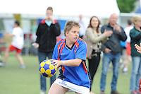 SPECIAL OLYMPICS: SNEEK: Sportpark Schutterveld, 14-06-2014, Special Olympics Nationale Spelen Fryslân 2014, Korfbal Alice Norbruis, ©Martin de Jong