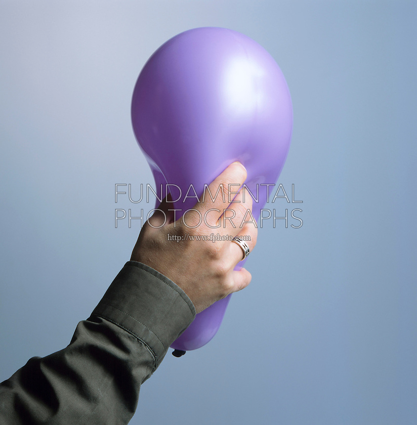 BALLOON: VOLUME & PRESSURE. Squeezing A Balloon Increases Pressure. When the balloon is squeezed, the air inside is displaced and pressure is increased.
