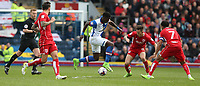 Blackburn Rovers' Lucas Joao and Bristol City's Josh Brownhill<br /> <br /> Photographer Stephen White/CameraSport<br /> <br /> The EFL Sky Bet Championship - Blackburn Rovers v Bristol City - Monday 17th April 2017 - Ewood Park - Blackburn<br /> <br /> World Copyright &copy; 2017 CameraSport. All rights reserved. 43 Linden Ave. Countesthorpe. Leicester. England. LE8 5PG - Tel: +44 (0) 116 277 4147 - admin@camerasport.com - www.camerasport.com