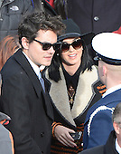Katy Perry and John Mayer at the Capitol prior to United States President Barack Obama taking the oath of office during the public swearing-in ceremony at the U.S. Capitol in Washington, D.C. on Monday, January 21, 2013..Credit: Ron Sachs / CNP.(RESTRICTION: NO New York or New Jersey Newspapers or newspapers within a 75 mile radius of New York City)