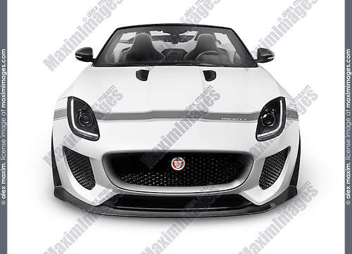 2016 Jaguar F-Type Project 7 Convertible sports car isolated on white background with clipping path