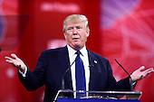Donald Trump speaks at the Conservative Political Action Conference (CPAC) at the Gaylord National at National Harbor, Maryland on Friday, February 27, 2015.<br /> Credit: Ron Sachs / CNP