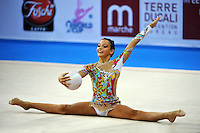 Chiara Di Battista (junior) of Italy performs with ball at 2010 Pesaro World Cup on August 27, 2010 at Pesaro, Italy.  Photo by Tom Theobald.