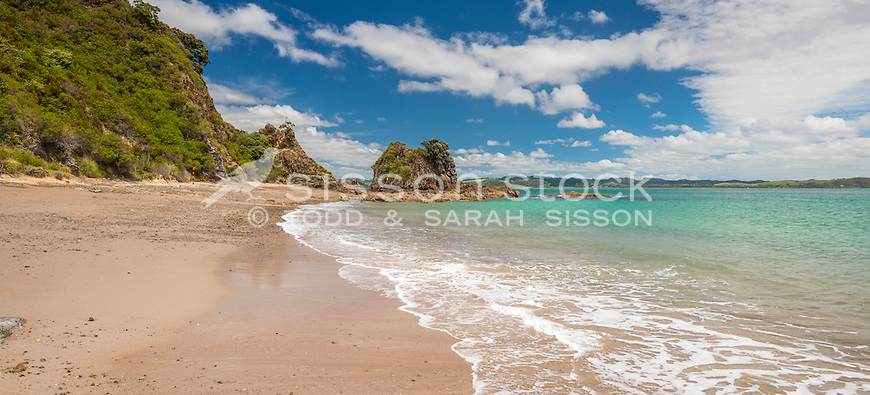 Tapeka Point near Russell, Bay of Islands, New Zealand - stock photo, canvas, fine art print