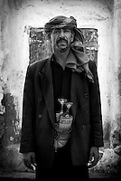 Portrait of man in Old City of San'a'