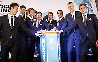The Top 8 players in the world on the ATP Tour attend the Official Launch of the ATP World Tour Finals, launching the new ATP app, at City Hall, London, 2015