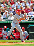 1 March 2009: St. Louis Cardinals' center fielder Colby Rasmus at bat during a Spring Training game against the Florida Marlins at Roger Dean Stadium in Jupiter, Florida. The Cardinals outhit the Marlins 20-13 resulting in a 14-10 win for the Cards. Mandatory Photo Credit: Ed Wolfstein Photo
