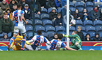 Preston North End's Tom Barkhuizen (#29) scores the opening goal <br /> <br /> Photographer Stephen White/CameraSport<br /> <br /> The EFL Sky Bet Championship - Blackburn Rovers v Preston North End - Saturday 18th March 2017 - Ewood Park - Blackburn<br /> <br /> World Copyright &copy; 2017 CameraSport. All rights reserved. 43 Linden Ave. Countesthorpe. Leicester. England. LE8 5PG - Tel: +44 (0) 116 277 4147 - admin@camerasport.com - www.camerasport.com