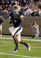 Pitt running back Ray Graham returns a kickoff. The Miami Hurricanes defeated the Pittsburgh Panthers 31-3 at Heinz Field, Pittsburgh, Pennsylvania on September 23, 2010.
