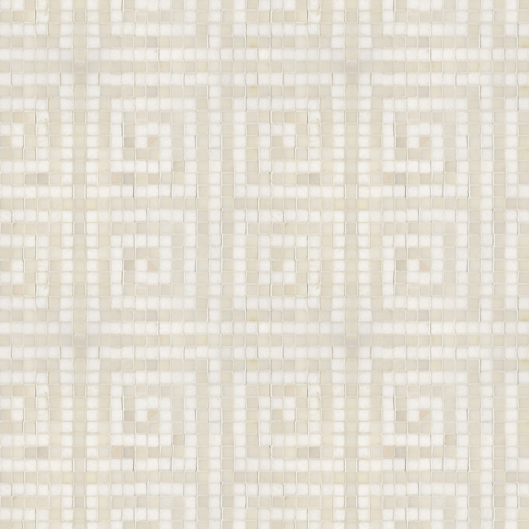 Name: Spartan Maze (1.5 cm)<br /> Style: Classic<br /> Product Number: NRFSPARMAZE-11<br /> Description: 24&quot;x 24&quot; Spartan Maze in Heavenly Cream, Thassos (p)