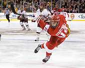 Justin Courtnall (BU - 19) - The Boston College Eagles defeated the Boston University Terriers 3-2 (OT) in their Beanpot opener on Monday, February 7, 2011, at TD Garden in Boston, Massachusetts.