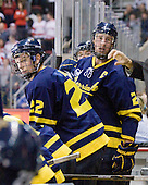 Brendan Ellis (Merrimack - 22), Adam Ross (Merrimack - 26) - The visiting Merrimack College Warriors tied the Boston University Terriers 1-1 on Friday, November 12, 2010, at Agganis Arena in Boston, Massachusetts.