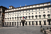 Rome  August 2004.The Palazzo Chigi.The official meeting place of Council of Ministers whose President is the Italian Prime Minister..